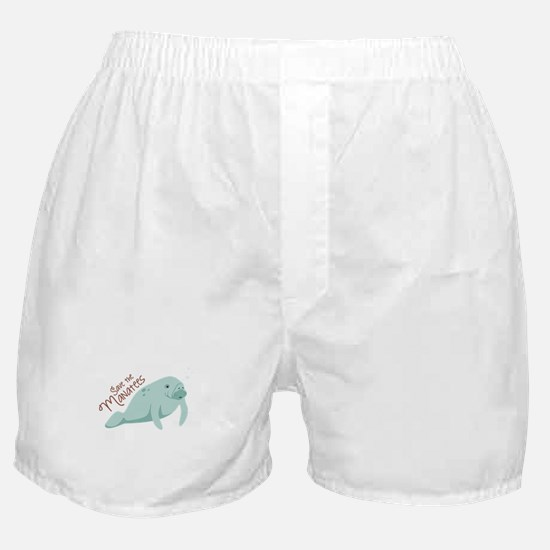 Save The Manatees Boxer Shorts