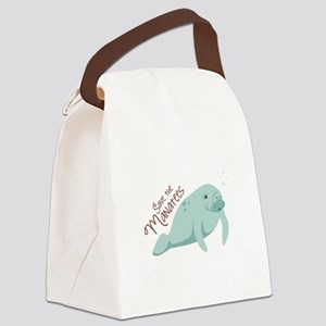 Save The Manatees Canvas Lunch Bag