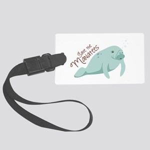 Save The Manatees Luggage Tag
