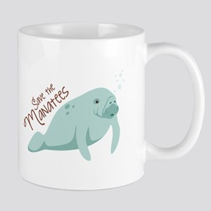 Save The Manatees Mugs