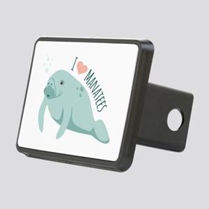 I love Manatees Hitch Cover