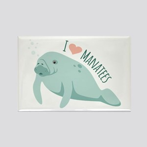 I love Manatees Magnets