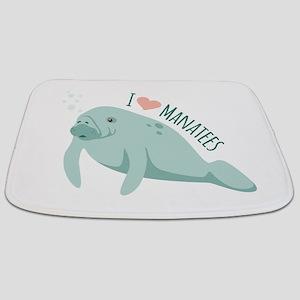 I love Manatees Bathmat