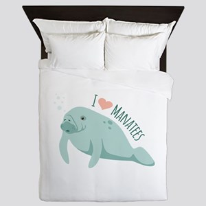 I love Manatees Queen Duvet