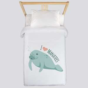 I love Manatees Twin Duvet