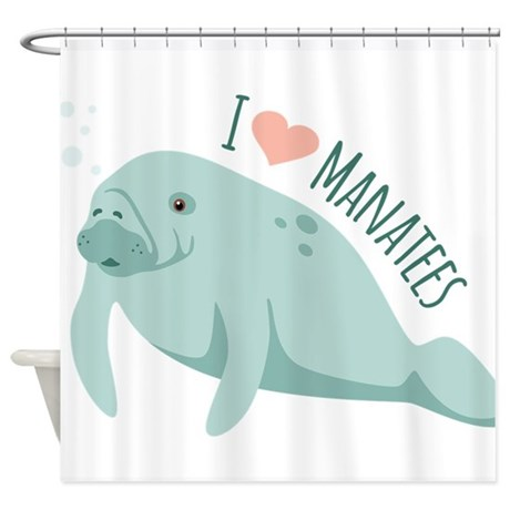 Incroyable I Love Manatees Shower Curtain