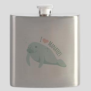 I love Manatees Flask