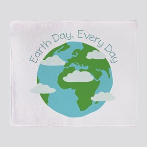 Earth Day,Every Day Throw Blanket
