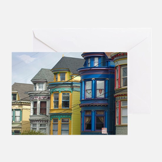 heritage wooden houses Greeting Card