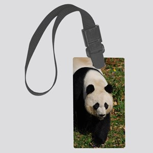 Giant Panda Bear Strutting His S Large Luggage Tag