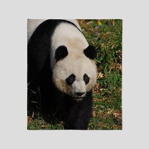 Giant Panda Bear Strutting His Stuff Throw Blanket