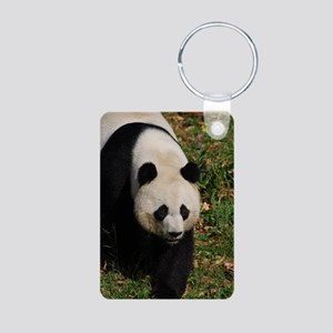 Giant Panda Bear Strutting Aluminum Photo Keychain