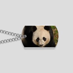 Cute Black and White Panda Face Dog Tags
