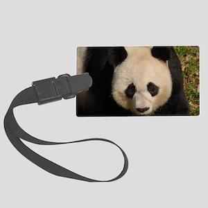 Cute Black and White Panda Face Large Luggage Tag