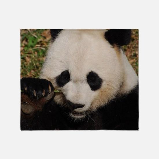 Panda Snacking Throw Blanket