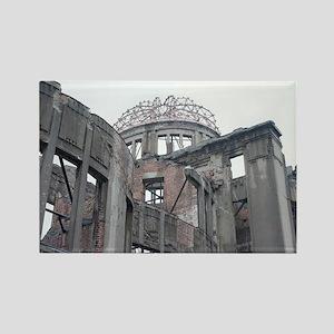 atomic bomb ruins Rectangle Magnet