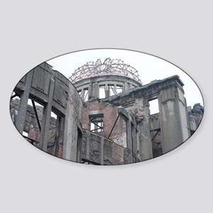 atomic bomb ruins Sticker (Oval)
