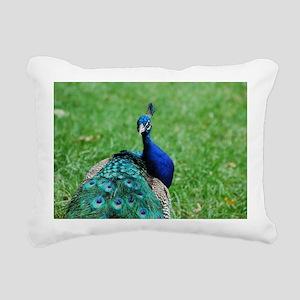 Gorgeous Peacock Rectangular Canvas Pillow