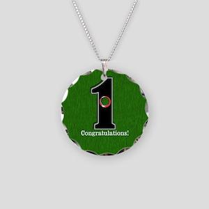 Customized Lucky Golf Hole i Necklace Circle Charm