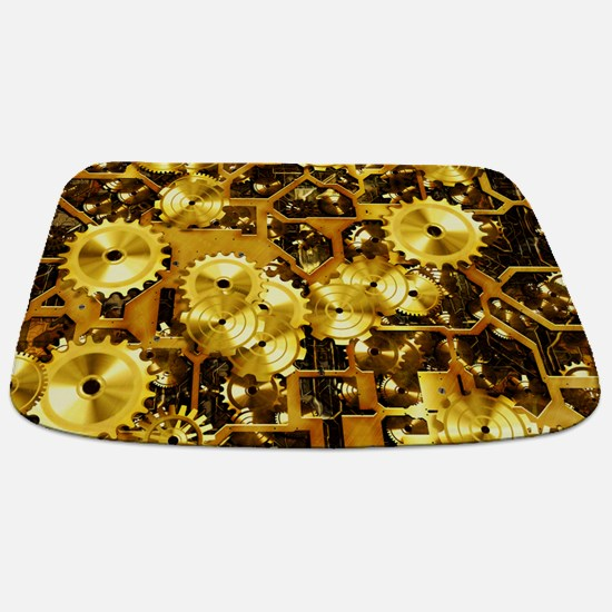 SteamClockwork-Brass Bathmat