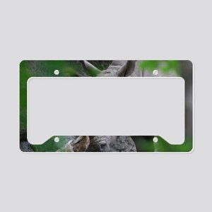 Rhino Up Close License Plate Holder