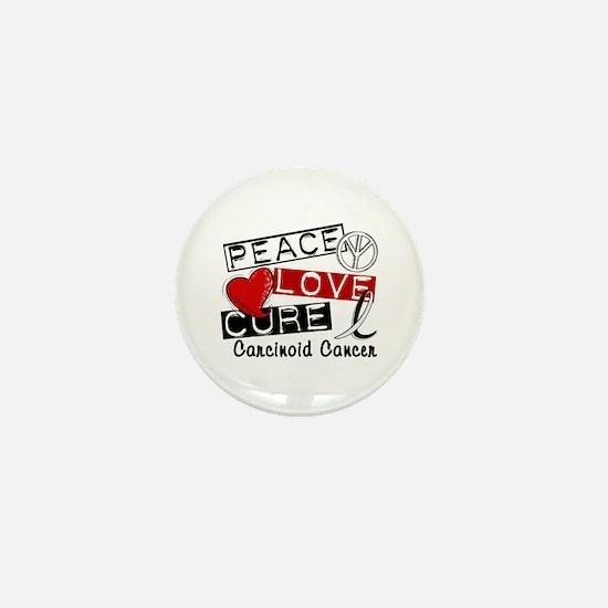 Carcinoid Cancer Peace Love Cure 1 Mini Button