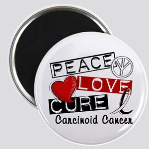 Carcinoid Cancer Peace Love Cure 1 Magnet