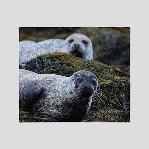 Lounging Seal Throw Blanket