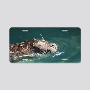 Swimming Sea Lion Aluminum License Plate