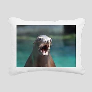 Roaring Sea Lion Rectangular Canvas Pillow