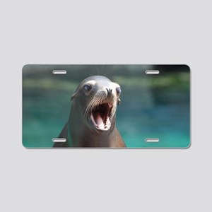 Roaring Sea Lion Aluminum License Plate