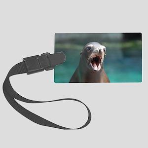 Roaring Sea Lion Large Luggage Tag
