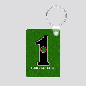 Customized Lucky Golf Hole Aluminum Photo Keychain