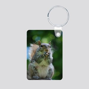 Friendly Squirrel Aluminum Photo Keychain