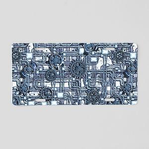 Steampunk Panel - Steel Aluminum License Plate