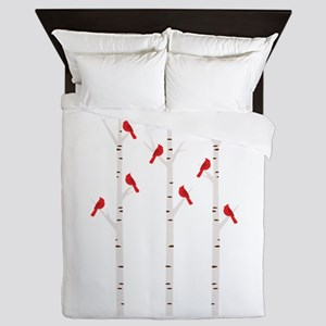 Cardinals in Trees Queen Duvet