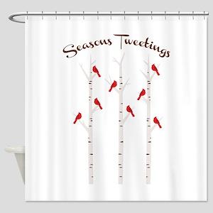 Seasons Tweetings Shower Curtain