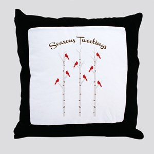 Seasons Tweetings Throw Pillow