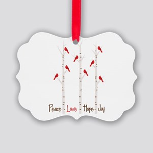 Peace Love Hope Day Ornament