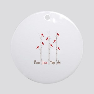 Peace Love Hope Day Ornament (Round)