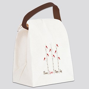 Peace Love Hope Day Canvas Lunch Bag