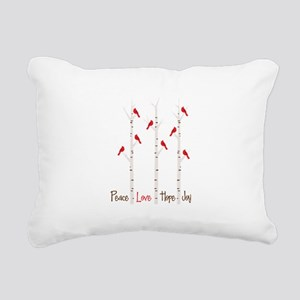 Peace Love Hope Day Rectangular Canvas Pillow