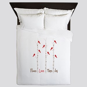 Peace Love Hope Day Queen Duvet