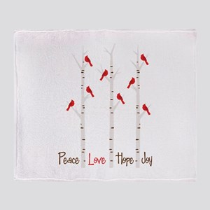 Peace Love Hope Day Throw Blanket