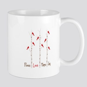 Peace Love Hope Day Mugs