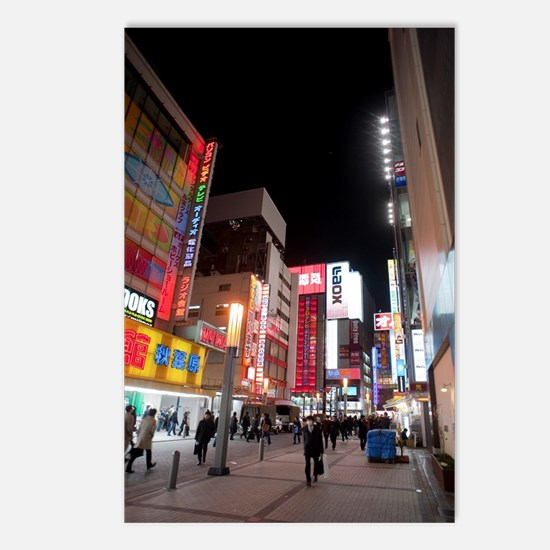 akihabara neon Postcards (Package of 8)