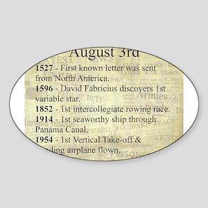 August 3rd Sticker