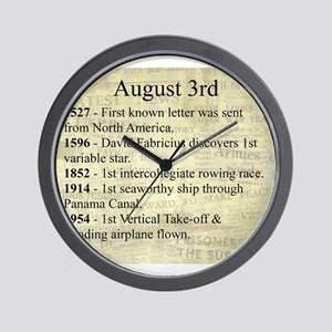 August 3rd Wall Clock