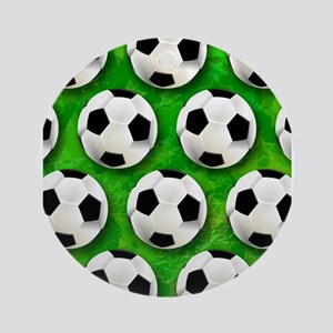 Soccer Ball Football Pattern Ornament (Round)