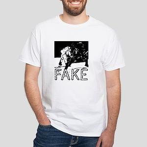 Moon Landing Hoax Conspiracy White T-Shirt